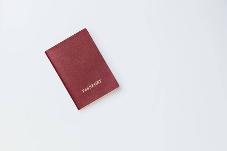Passport on white background isolate Banque d'images - 134842751