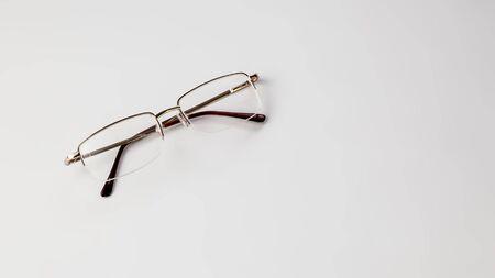 Glasses for vision on a light background. Banque d'images - 134842754