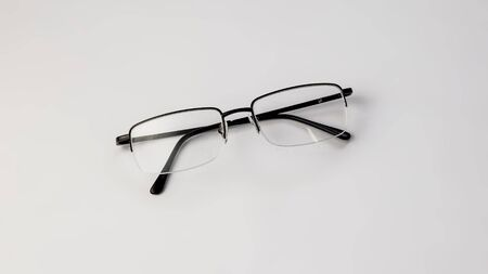 Eyeglasses on white background isolate Banque d'images - 134842841