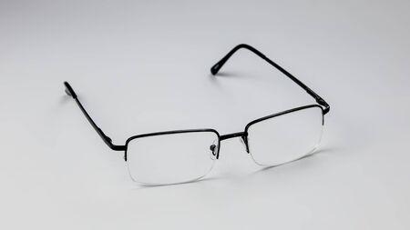 Glasses for vision on a light background. Banque d'images - 134842915