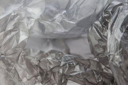 Black Plastic bag close-up. Background texture Banque d'images - 135168346