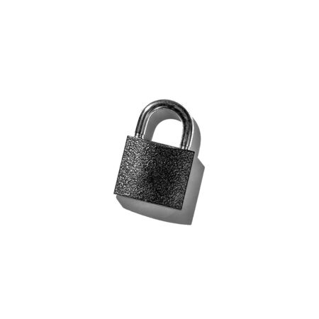 padlock on white background isolate Banque d'images - 135168329