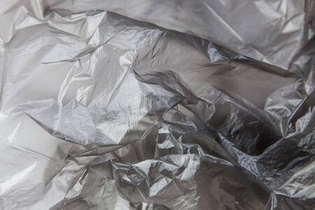 Black Plastic bag close-up. Background texture Banque d'images - 135168355