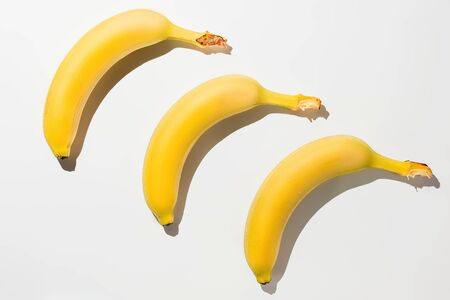 Bananas on white background isolate Banque d'images - 134843223
