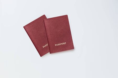 Two Passports on a white background isolate 免版税图像