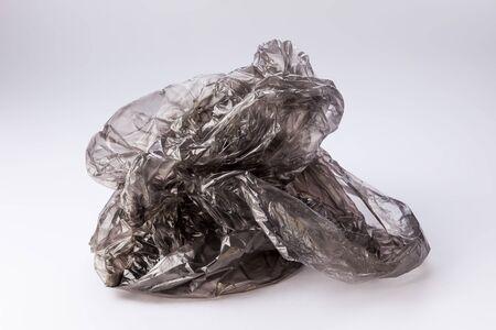 Black Plastic bag on white background