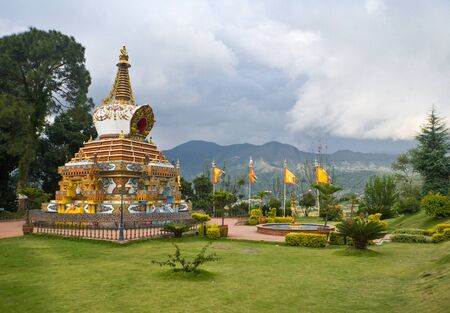 kathmandu: Kopan - buddist monastery in Kathmandu valley, Nepal Stock Photo