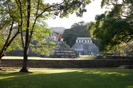 mayan prophecy: Mayan ruins in Palenque, Mexico