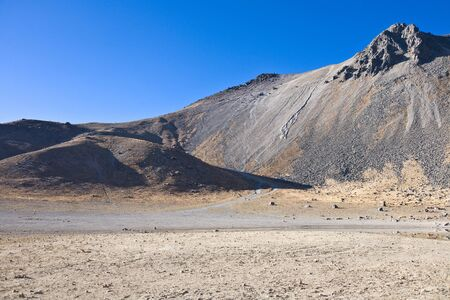 nevado: Volcano Nevada de Toluca with lakes inside crater in Mexico