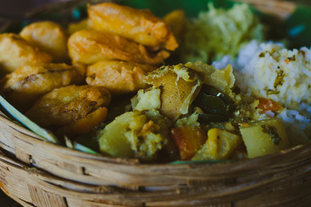 southern indian: Traditional indian food Stock Photo