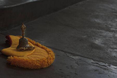 puja: Puja - traditional ceremony in buddha monastery, Dharamsala, India