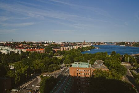 sity: Stockholm- capital of Sweden, sity central view, north Europe Stock Photo