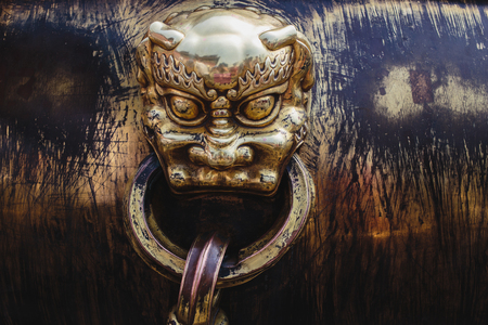 Architecture in details in China Beijing Forbidden city - ancient residence of Emperor Editorial