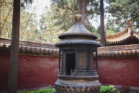 emperor of china: Architecture in details in China Beijing Forbidden city - ancient residence of Emperor Editorial