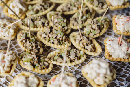 canapes: Delicious canapes as event dish Stock Photo
