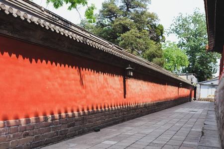 ancient architecture: Confucius temple area, famous tourist destination in Beijing, China