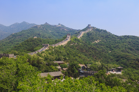 muralla china: Habida cuenta de la gran muralla china Beijing, China, la sección Badaling