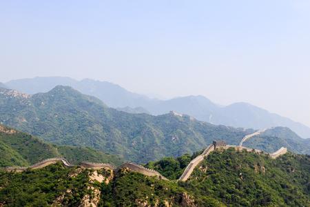 muralla china: Habida cuenta de la gran muralla china Beijing, China, la secci�n Badaling