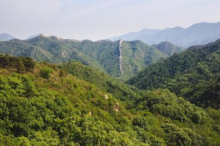 china wall: Habida cuenta de la gran muralla china Beijing, China, la sección Badaling