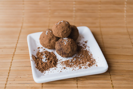 homemade healthy raw energy sweet balls - indian vegetarian desserts.