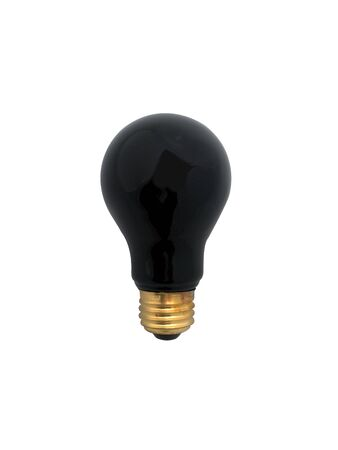 bad idea: Black lightbulb isolated on white. Clipping path included. Good for Halloween, parties, bad idea concept.