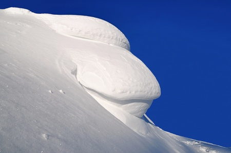 eaves: Snow eaves Stock Photo