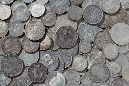 Ancient silver coins Stock Photo - 13119129