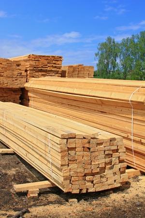 Edging board in stacks Stock Photo - 13536977