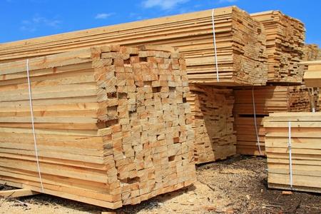 Edging board in stacks Stock Photo - 13679779