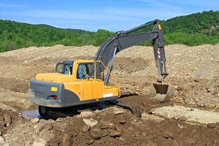 building site: Dredge on a building site Stock Photo