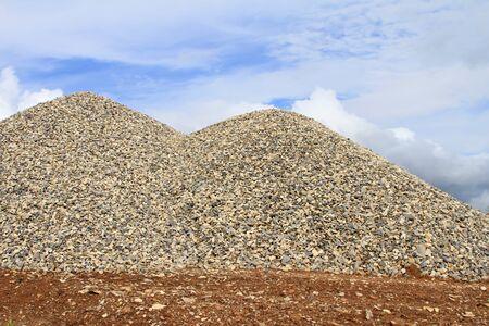 materiales de construccion: Montones de eliminación granito