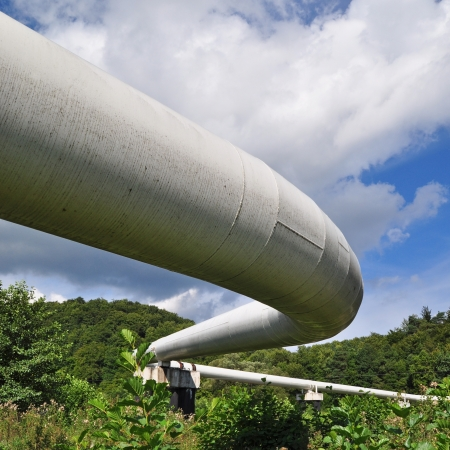 The high pressure pipeline Stock Photo