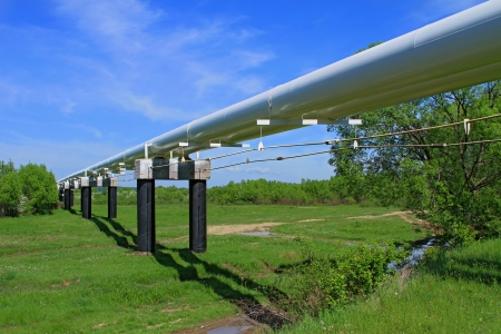 The high pressure pipeline Standard-Bild