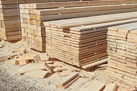 Edging board in stacks Stock Photo - 15789703
