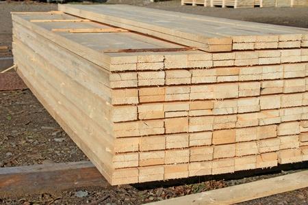 Edging board in stacks Stock Photo - 15789720