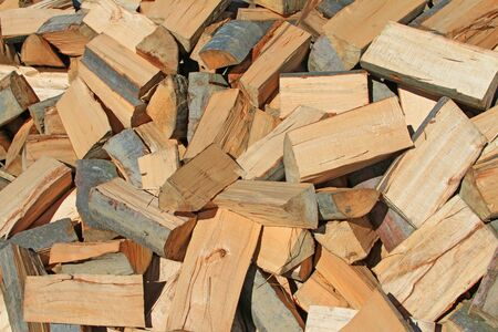tree felling: Chipped fire wood