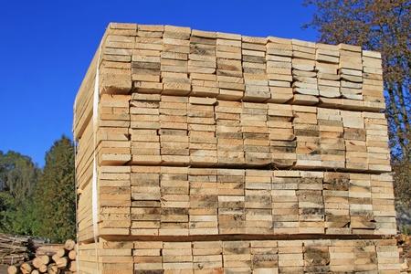 Edging board in stacks Stock Photo - 15996825