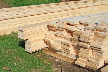 Edging board in stacks Stock Photo - 15998060