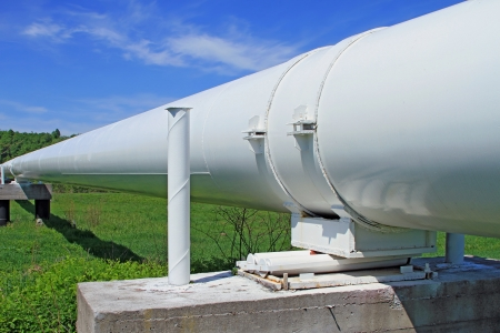 main river: The high pressure pipeline Stock Photo