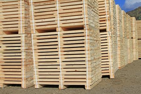 Edging board in stacks Stock Photo - 16991947