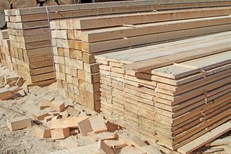 Edging board in stacks Stock Photo - 17340879