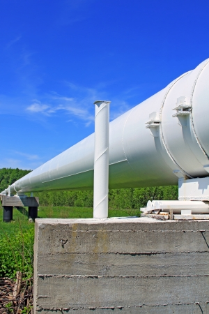 'main squeeze': The high pressure pipeline Stock Photo