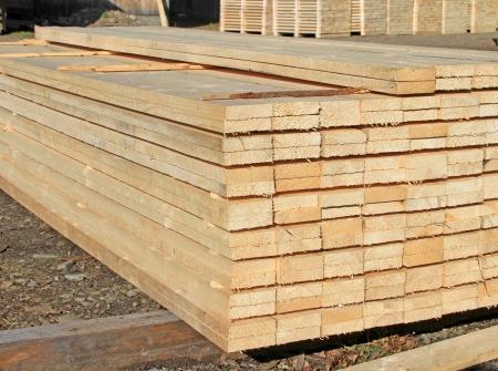 Edging board in stacks Stock Photo - 19061465