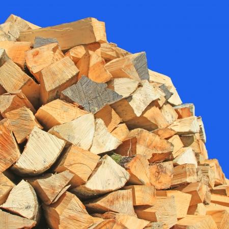 Feu de bois ébréché Banque d'images