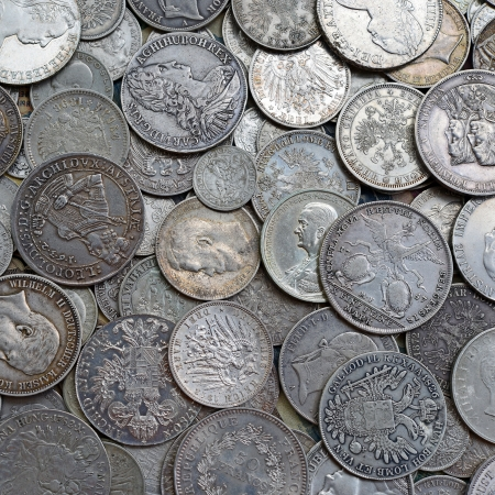 Ancient silver coins Stock Photo - 21693021