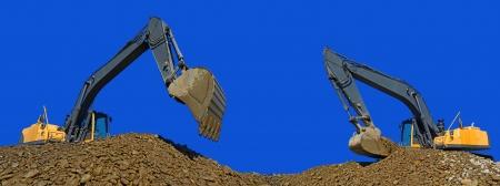 Loading gravel excavators