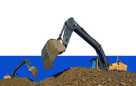 Loading gravel excavators