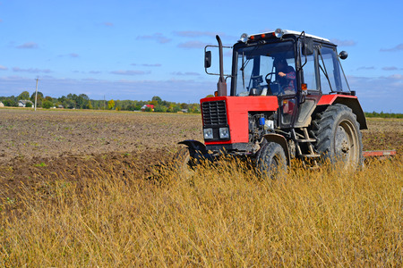 tenure: Wheeled tractor in the field