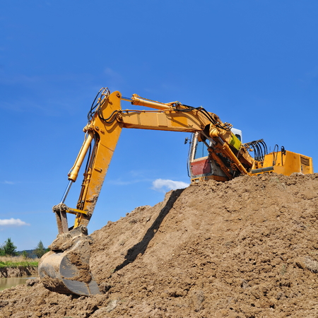 Dredge on a building site