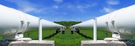swap: The high pressure pipeline Stock Photo